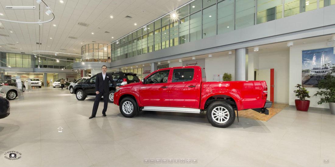 Виртуальный тур по автосалону Toyota