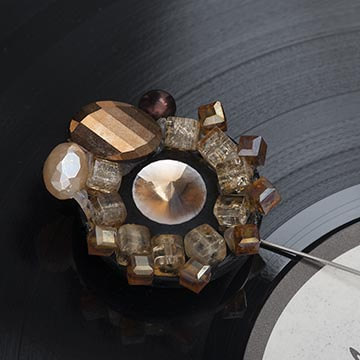 Брошь. Автор Ольга Устинова. Серия Vinyl. Фотографическое агентство GurFoto.Ru