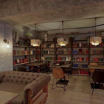 Книжный, ресторан. Интерьерная съемка. Фотографическое агентство GurFoto.ru
