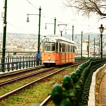Трамвай. Будапешт. Фотографическое агентство GurFoto.Ru