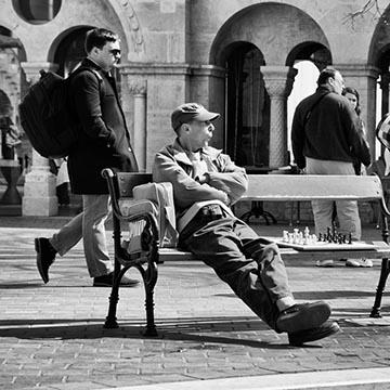 Шахматист. Будапешт. Фотографическое агентство GurFoto.Ru